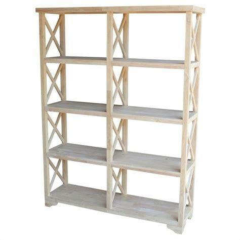 Unfinished Shelf by Unfinished 4 Tier X Sided Shelf Unit Sh 7247x