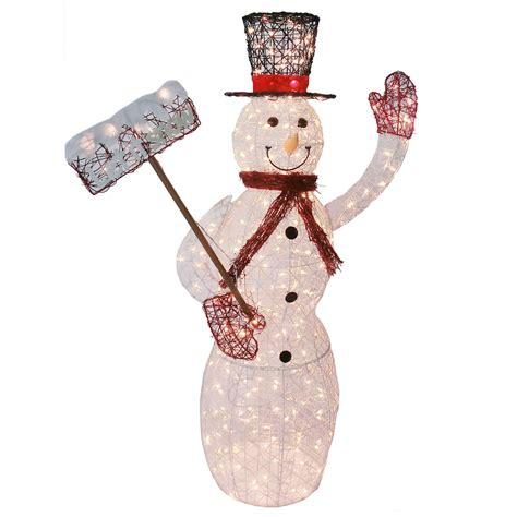 lighted snowman for outside lighted vine snowman outdoor christmas decoration 5 ft