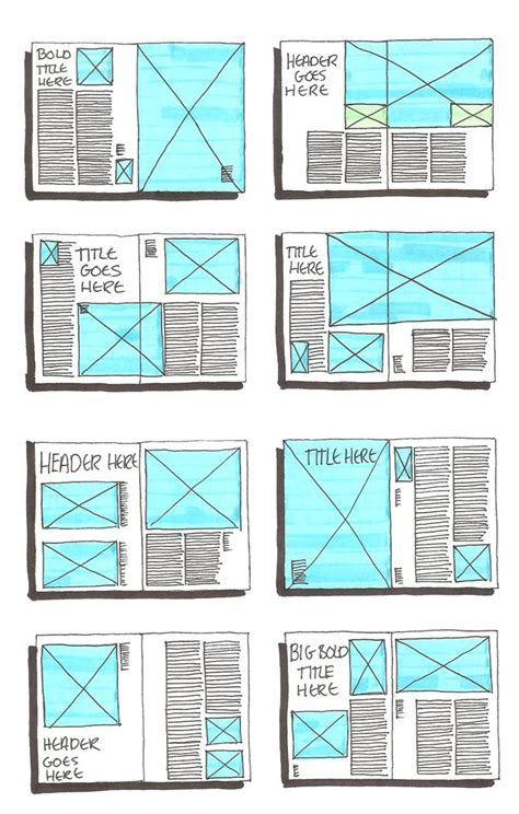 page design ideas grid layout sketches on pinterest magazine layouts