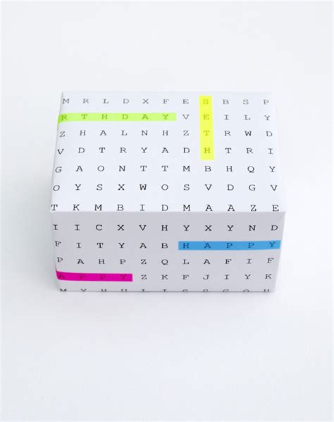 How To Make A Wordsearch On Paper - diy word search gift wrap minieco