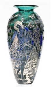 cameo nouveau glass vase