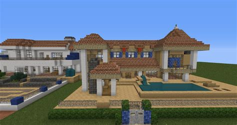 Feature Wall by Moderne Villa Mit Redstone Technik Minecraft Project