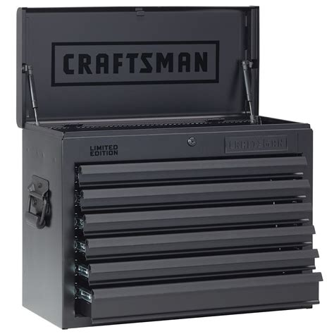 craftsman 4 drawer standard duty top tool chest craftsman 26 in wide 6 drawer heavy duty top chest flat