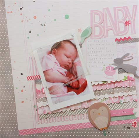 scrapbook layout baby girl special delivery baby girl scrapbook layout pebbles inc