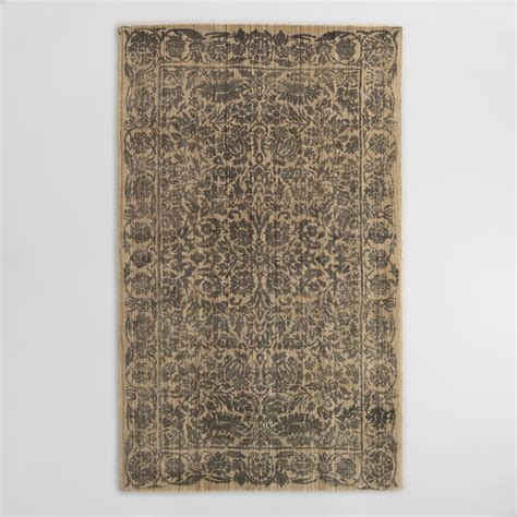 Gray Floral Tufted Wool Sapphire Area Rug World Market Wool Rugs