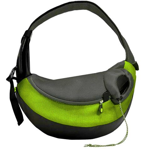 carrier sling wacky paws large pet sling pet carrier in green petco