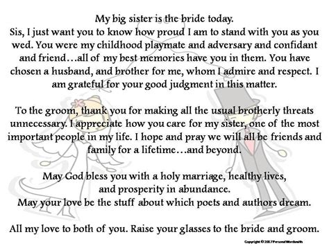 Wedding Announcement Speech by Toast To From Printable Best