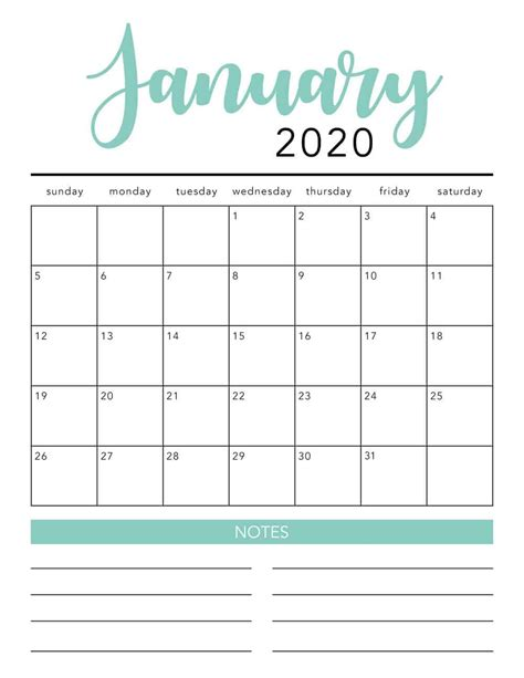printable calendar template  colors  heart naptime