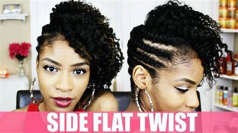 Side Twist Hairstyle by Side Flat Twist Hairstyles Www Imgkid The Image