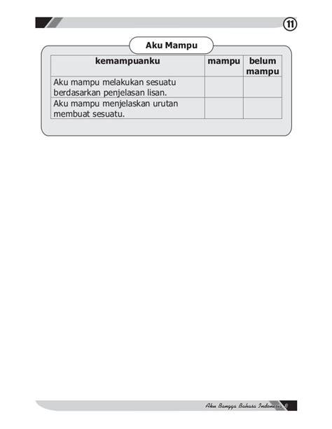 urutan teks prosedur membuat bunga dari sedotan aku bangga bahasa indonesia kelas 3 ismoyo