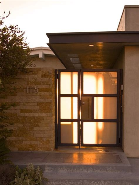 front porch  mid century modern homes design pictures