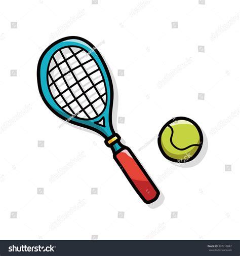 doodle tennis tennis doodle stock vector 307918847