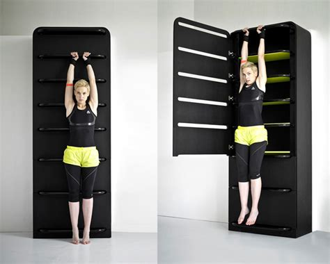 Small Space Home Equipment Koldov 225 S Fitness Furniture Turns Closet Table Into