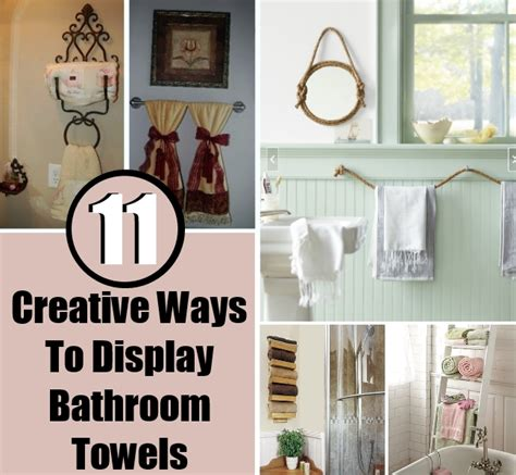 ways to display towels in bathroom 11 creative ways to display bathroom towels diy home things