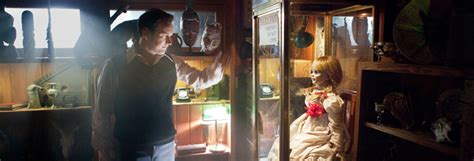 annabelle doll in insidious wan on the set of the conjuring