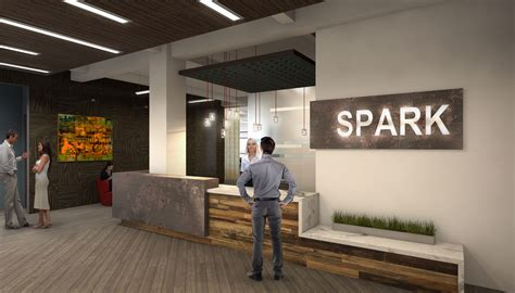 spark collaborative office space architectural  rendering