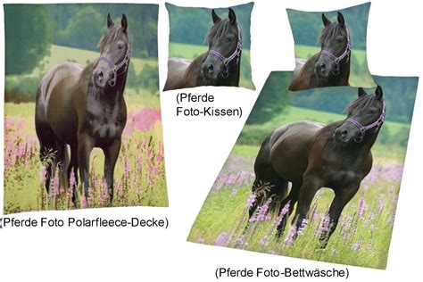 decke pferd foto bettw 228 sche mit kissen decke quot pferd auf wiese quot