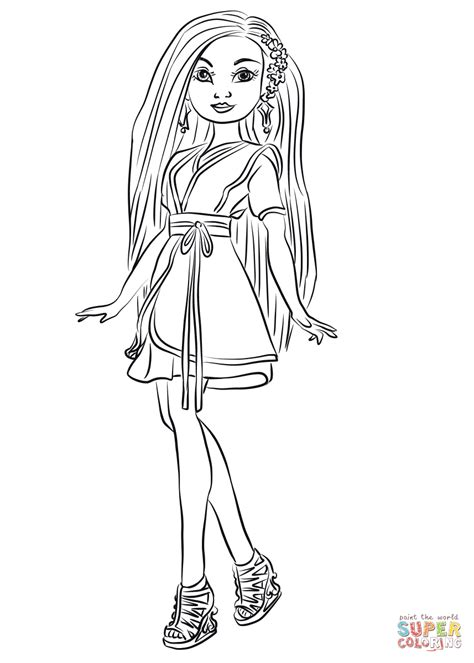 coloring pages the descendants lonnie from descendants wicked world coloring page free