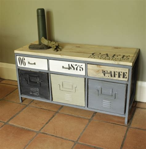metal storage bench uk metal industrial locker style storage bench wooden green