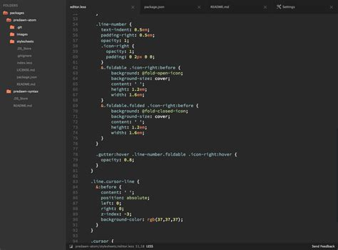 install themes en atom predawn ui