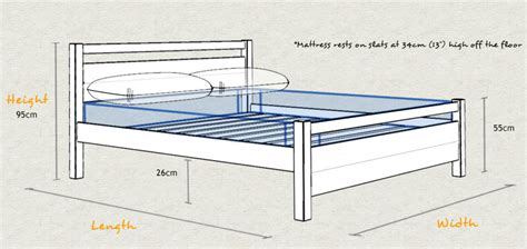 Height Of Bed Frame Cambridge Bed Get Laid Beds