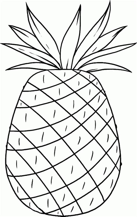 pineapple coloring pages smooth cayenne pineapple from hawaii coloring page