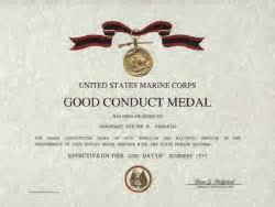 army conduct medal certificate template usmc conduct medal replacement certificate
