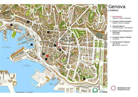 map of genoa italy genova italy map