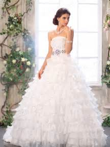 Strapless Wedding Dresses Strapless Ball Gown Wedding Dresses With Lace Sang Maestro