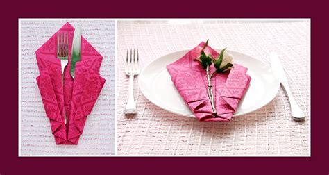 Tischdeko Servietten Falten by Servietten Falten Bestecktasche Deko Ideen