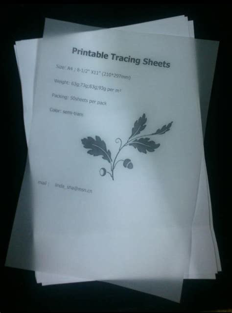 How To Make Tracing Paper At Home - 73g printable tracing paper a4 50sheets pack leather craft