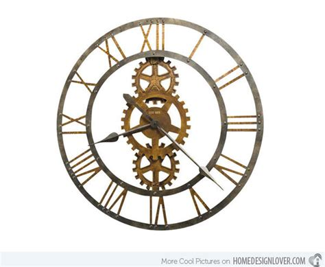 Design Clock by 15 Interesting Industrial Wall Clock Designs Home Design