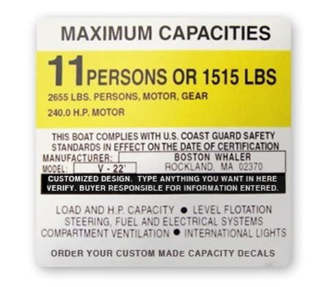 boat capacity rules boat capacity sticker replicas garzonstudio