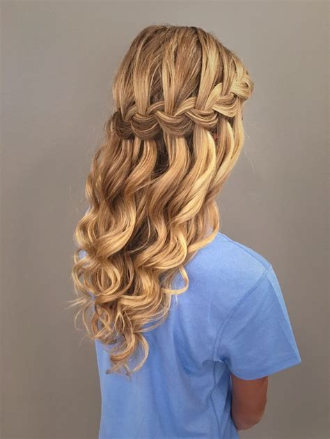 25 best ideas about waterfall braid prom on hair styles for prom waterfall braids