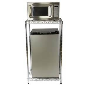 modern kitchen with mini fridge microwave stand storage