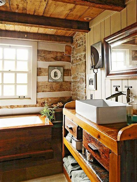 cabin bathrooms ideas 75 best hewn log homes images on log