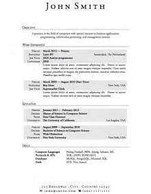 Resume Exles For Students With No Work Experience by Resumes With No Experience