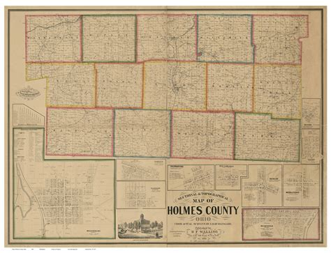 printable map holmes county ohio holmes county ohio 1861 old map reprint old maps