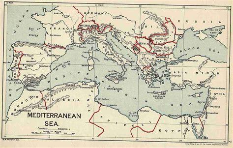 map of mediterranean the mediterranean sights