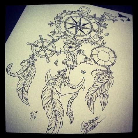 compass dreamcatcher tattoo tumblr mpozm3t2mk1spxqzto1 500 jpg 500 215 500 pixels tattoo