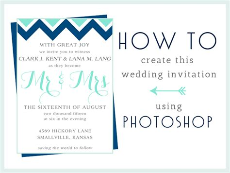 How To Make Paper Invitations - how to make this wedding invitation in photoshop
