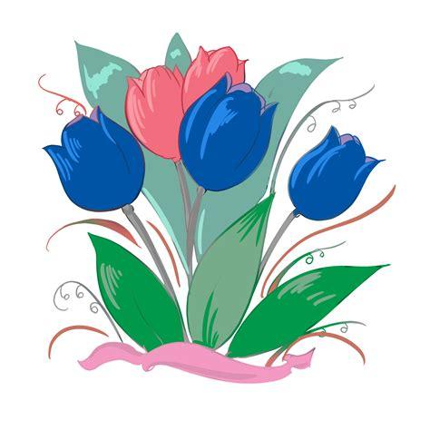 clip grafiken blaue tulpen bild clip grafik illustration kostenlos
