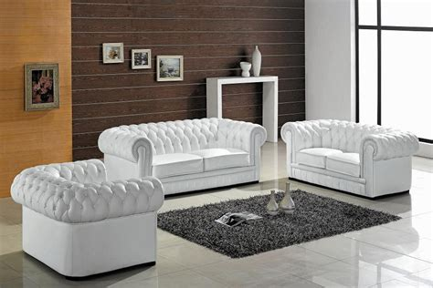 Paris Ultra Modern White Living Room Furniture Sofa Sets White Leather Living Room Furniture