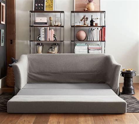 soma brady sleeper sofa soma brady slope arm slipcovered sleeper sofa pottery barn
