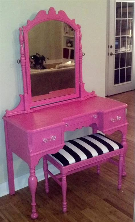 Pink Vanity Desk by Pink Vanity With Bench 300 The Shoppes On