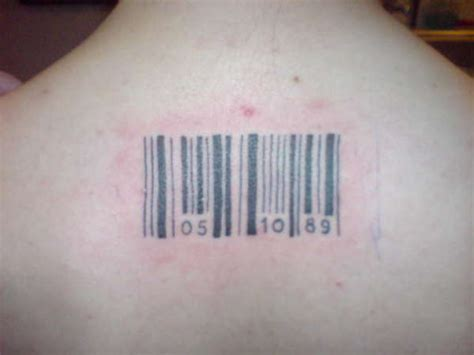 barcode tattoo with date barcode tattoos and designs page 101