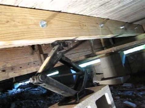 Repair Sagging by Fixing Sagging And Rotten Floor Joists