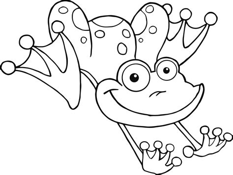 coloring page of frog free printable frog coloring pages for kids