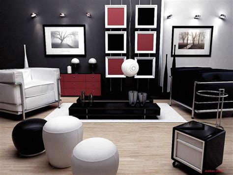 dark home decor black red and white livingroom interior designs for your