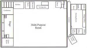 Multi Purpose Hall Floor Plan hillman community center facility for rent in northeast